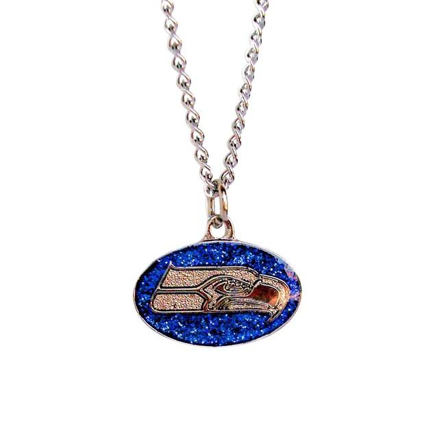 Cleanlapsports Seattle Seahawks Glitter Necklace