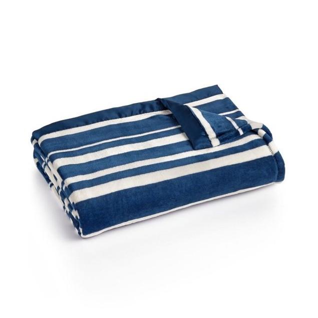 "Berkshire Classic Velvety 108""X90"" King Size Blankets, Blue"