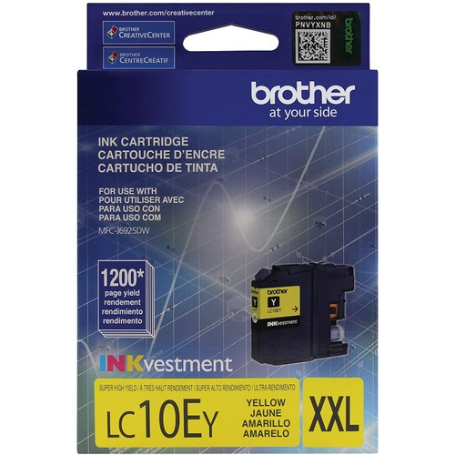 Brothers Brother Printer LC10EY Super High Yield Yellow Ink Cartridge