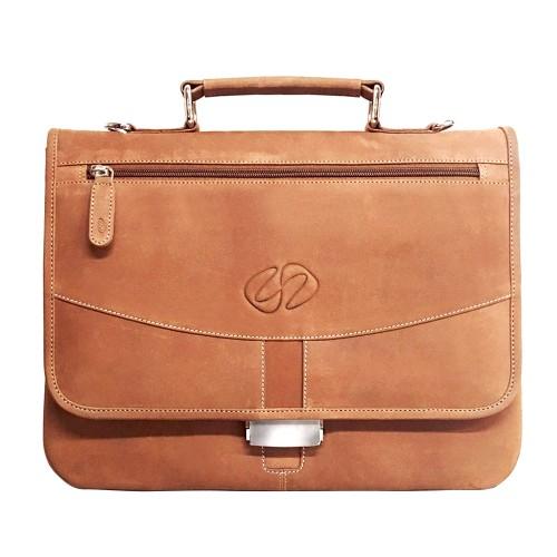 MacCase Premium Leather iPad Pro Briefcase - Vintage Brown