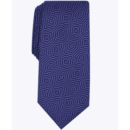 Alfani Men's Debin Abstract Plaid Tie  Navy Size Regular