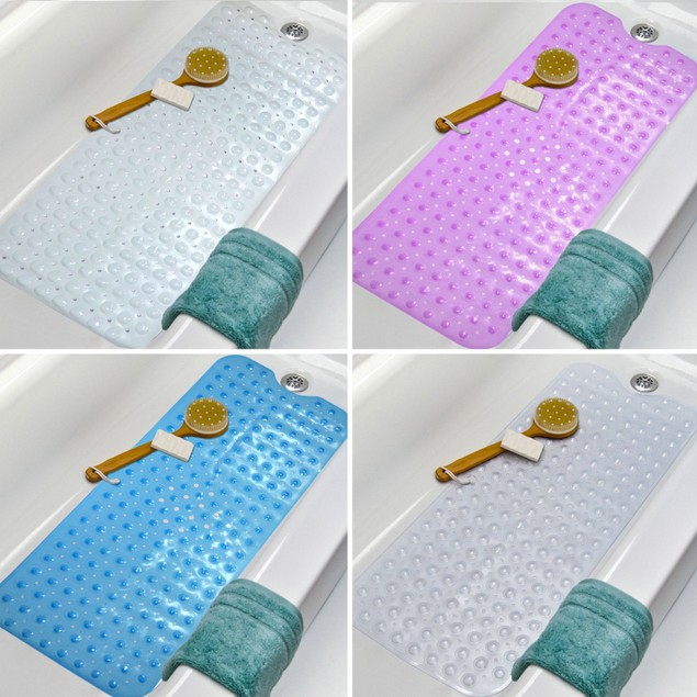 Non-Slip Extra Long Bath and Shower Mat | Pukkr Purple
