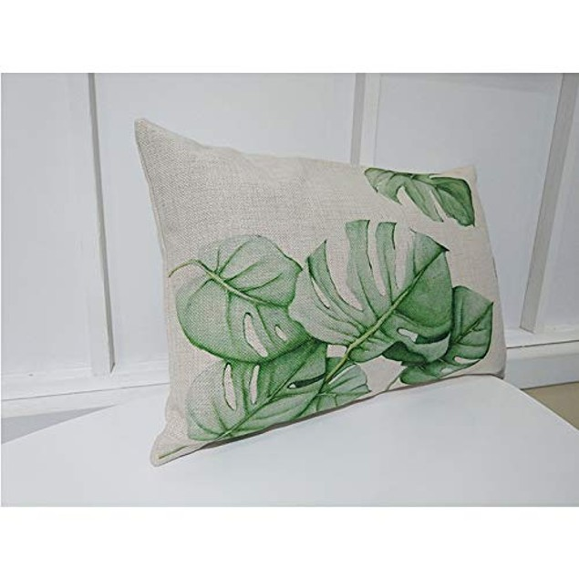 Home Decorative Throw Pillow Covers Tropical Flower Leaves Tropical 4