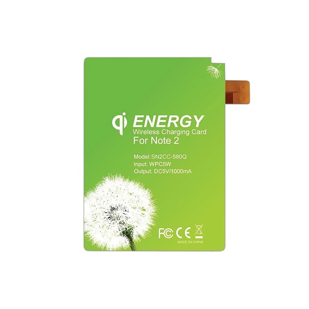 Qi Wireless Charging Energy Card for Samsung Galaxy Note 2