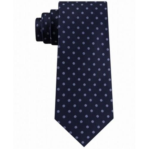 Tommy Hilfiger Men's Mont Classic Dot Stripe Tie Navy One Size