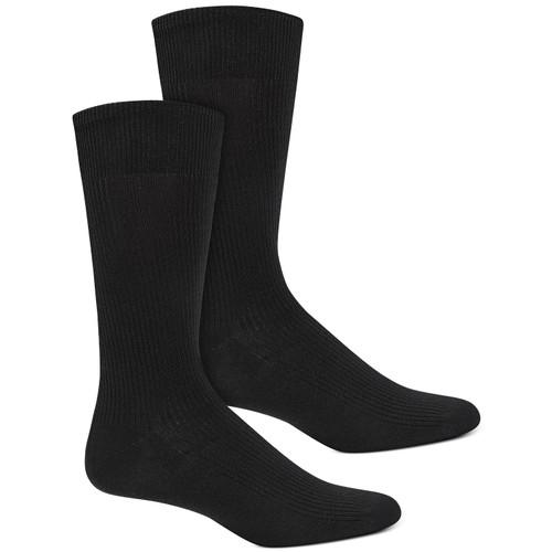 Alfani Men's Ribbed Socks Black Size Regular