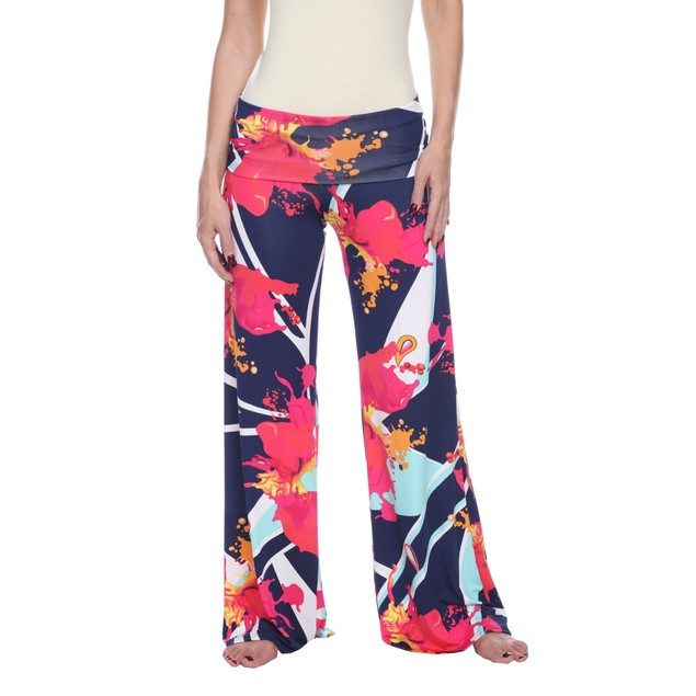 World of color Print Palazzo Pants - Teal Pink