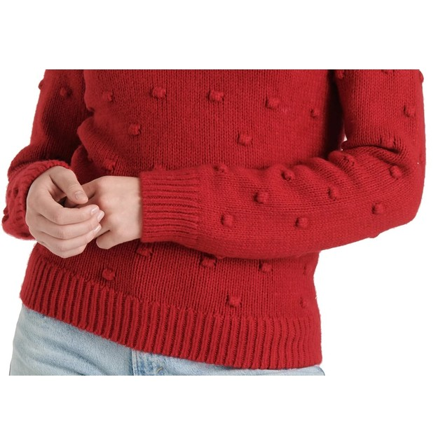 Lucky Brand Women's Bobble Crewneck Sweater Red Size X-Small