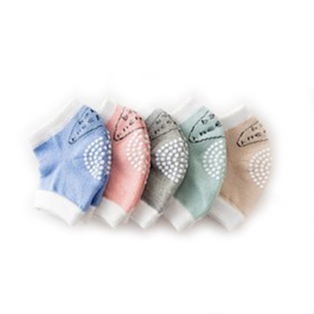 6-Pack Four Seasons Breathable Baby Knee Pads- Assorted