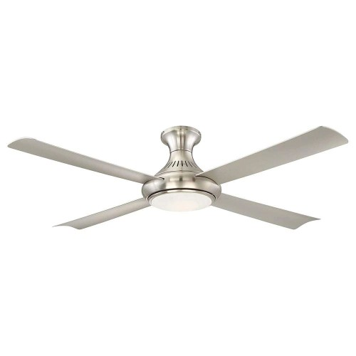 """Aire Waywood LED Indoor Brushed Nickel Ceiling Fan w/ Impact Resistant, 56"""""""