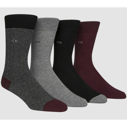 Calvin Klein Men's 4-Pack Patterned Dress Socks Multi Size 6.5-11