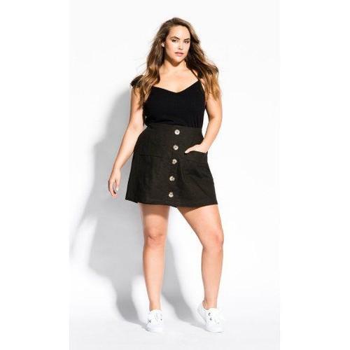 City Chic Women's Trendy Plus Size Mini Skort Green Size S P