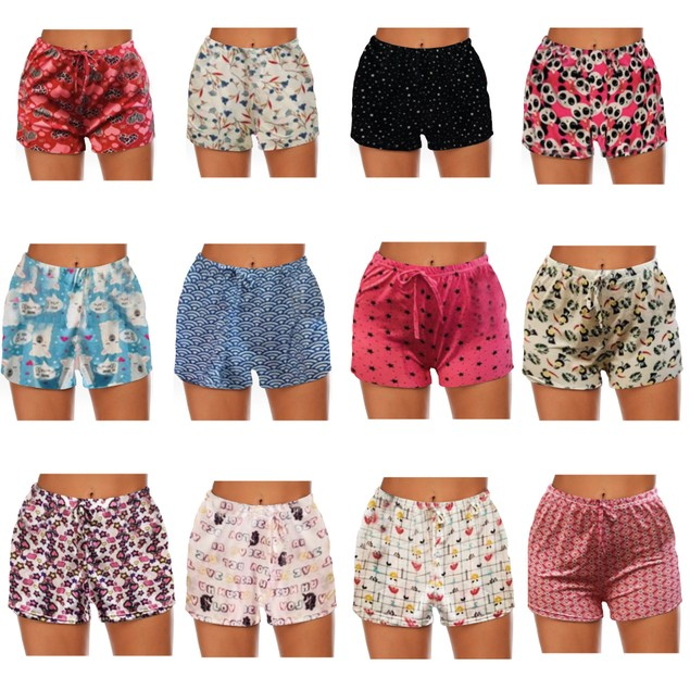 3-Pack Mystery Deal: Women's Comfy Lounge Bottom Pajama Shorts W/Drawstring