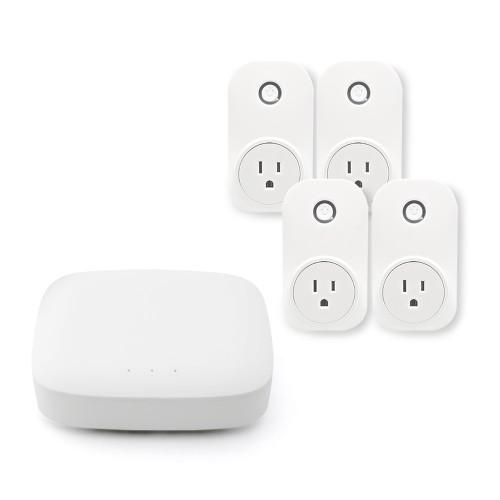 MiLocks YoSmart Hub Bundle with 4 Smart Plugs