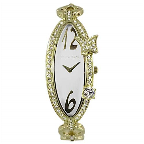 Charles Delon Women's Watches 3959 LGWW Gold/Gold Stainless Steel Quartz Oval