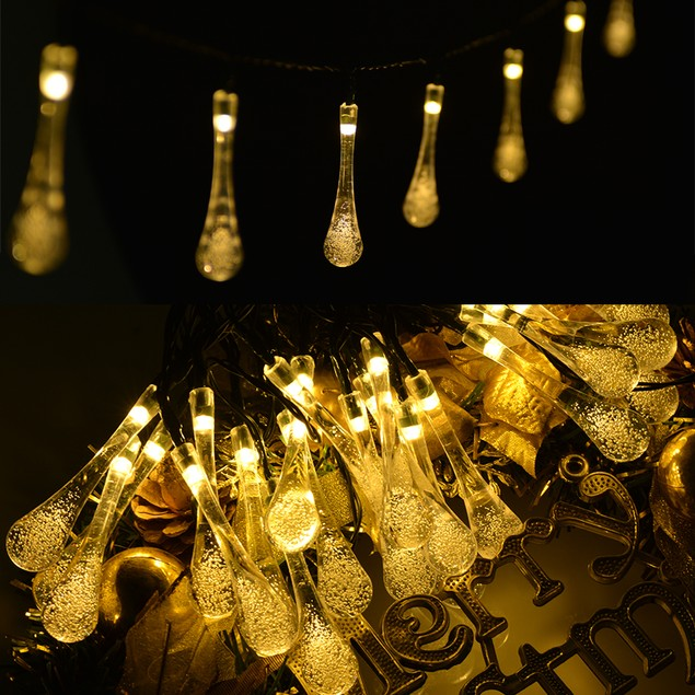 20 LED Water Drop Fairy String Lighting for Outdoor