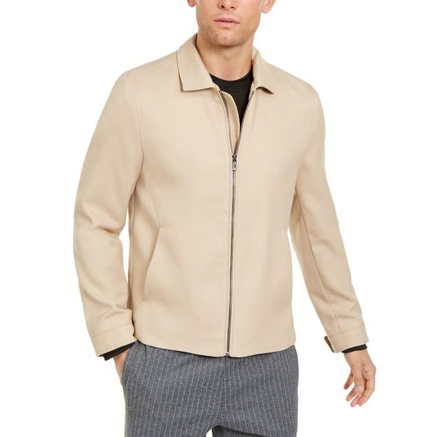 Alfani Men's Full-Zip Jacket Brown Size Extra Large