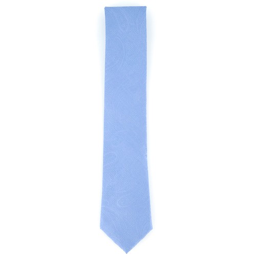 Michael Kors Men's Satin Texture Paisley Silk Tie Blue Size Regular
