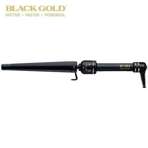 """Hot Tools 1 ¼"""" BLACK GOLD™ XL TAPERED CURLING IRON/WAND"""