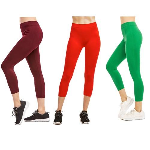 3-Pack: Ultra-Soft High Waisted Capri Leggings