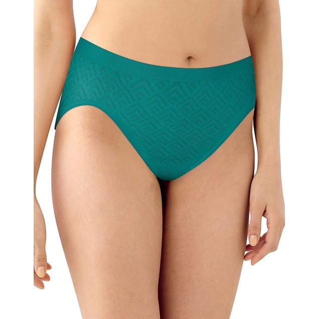 Bali Women's Comfortable Revolution Seamless HiCut Panties, 11, Gem Jade