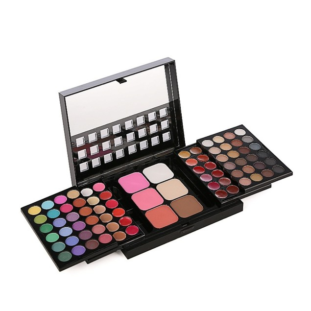 78-color Eye Shadow Push-pull Makeup Tray Foldable Retractable Eye Shadow Trimming Lip Gloss Combo Set