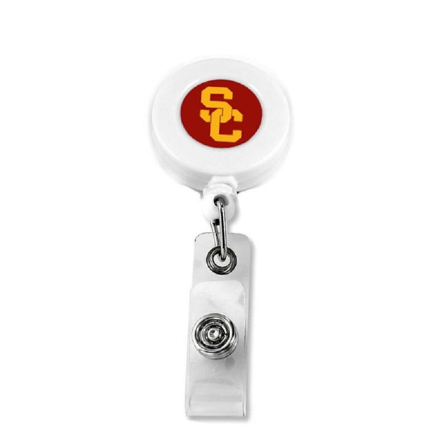 NCAA Sports Team Logo Retractable Badge Reel Id Ticket Clip