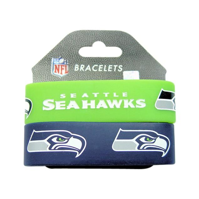 Seattle Seahawks Rubber Wrist Band (Set of 2) NFL