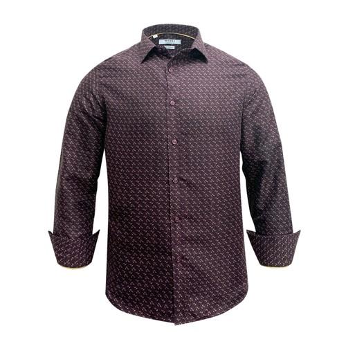 Monza Modern Fit Long Sleeve Purple Peacock Dress Shirt
