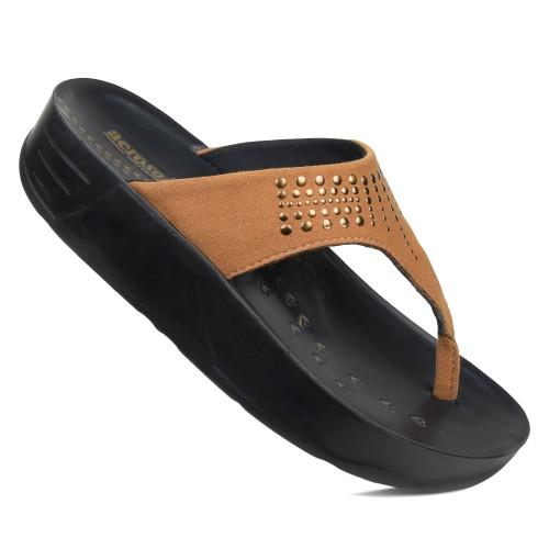 AEROSOFT Dazzler Open Toe Summer Comfortable Arch Support Platform Sandals for Women