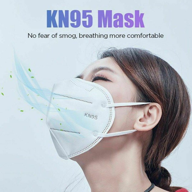 10 Pk KN95 ROYAL BLUE Face Mask Cover Protection Respirator Masks KN 95