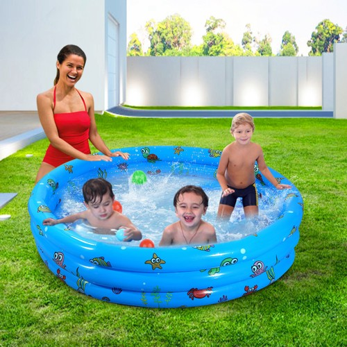 """51x13"""" Inflatable Swimming Pool Blow Up Family Pool"""