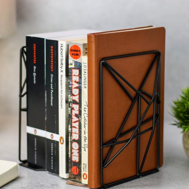 Geometric Bookends | MandW Black