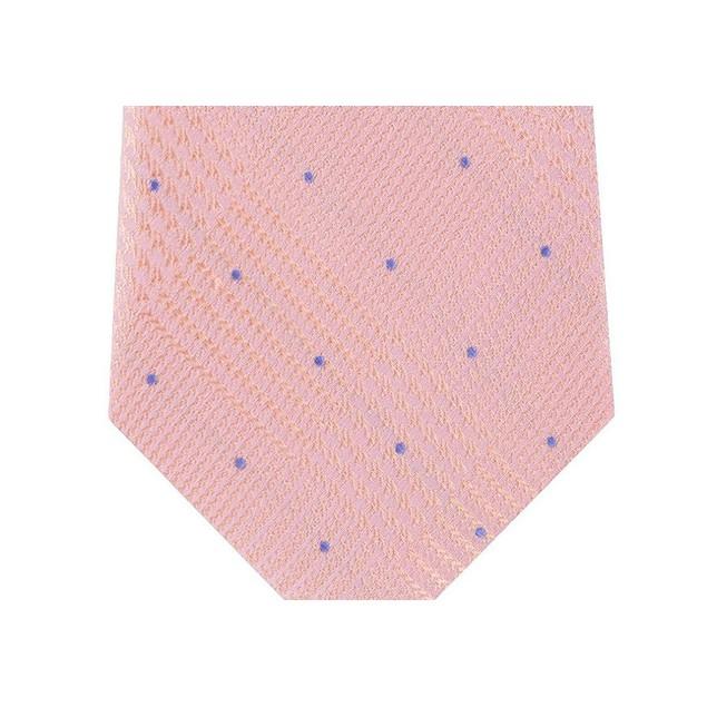 Michael Kors Men's Classic Glen Check Dot Tie Pink Size Regular