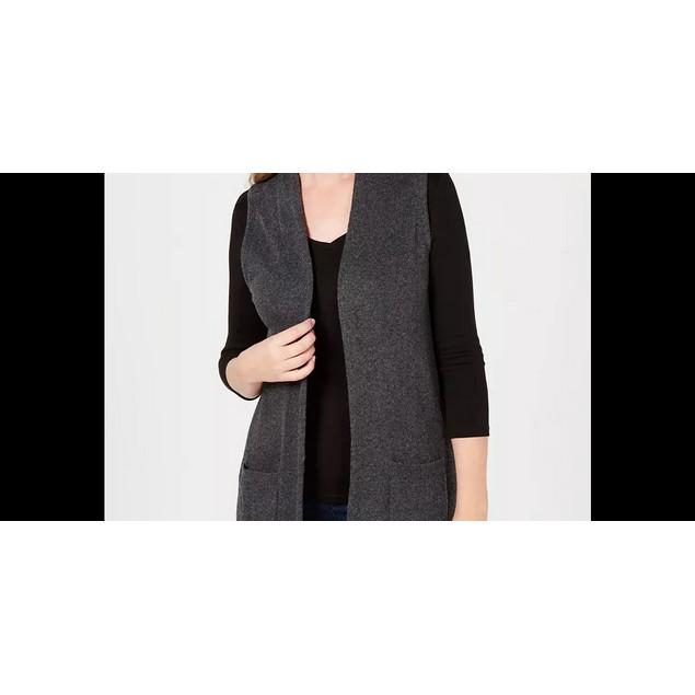 Karen Scott Women's Sweater Vest Black Size Medium