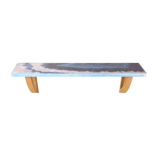 """Blue Agate 36"""" Wooden Decorative Wall Shelf with Keyhole Hangers"""
