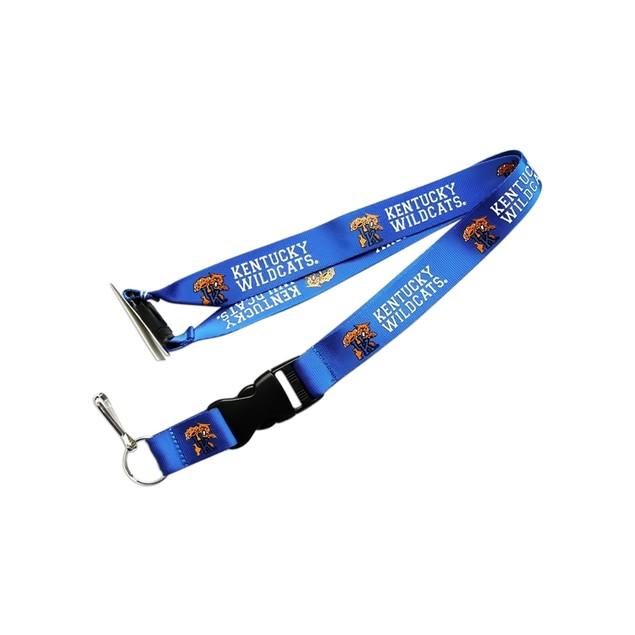 Kentucky Wildcats Clip Lanyard Keychain Id Ticket NCAA - Blue