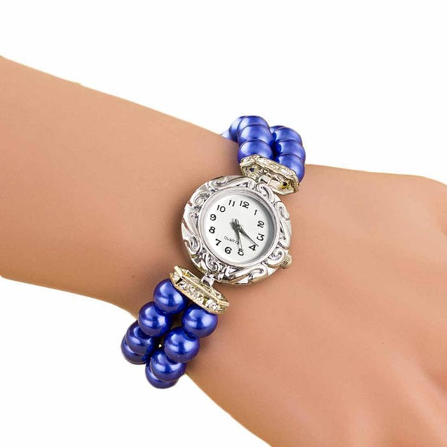 Women Fashion Brand New Golden Pearl Quartz Bracelet Watch