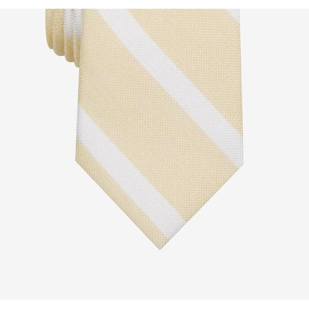 Bar III Men's Lovett Stripe Skinny Tie Yellow Size Regular