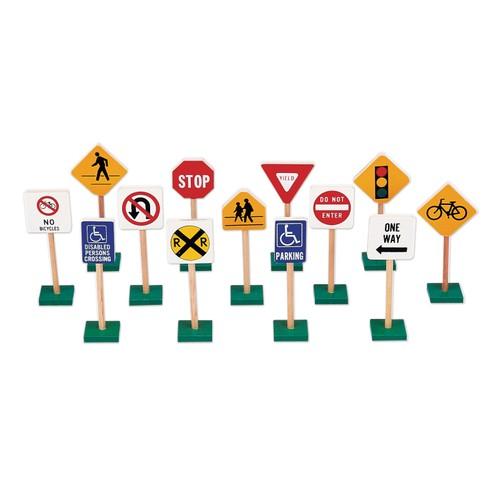 "GuideCraft 7"" Block Play Traffic Signs"