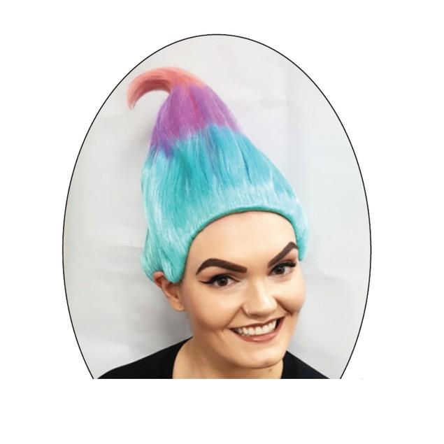Trollz Sky Blue, Lavender And Pink Wig Cosplay Costume Movie TV Hair Trolls