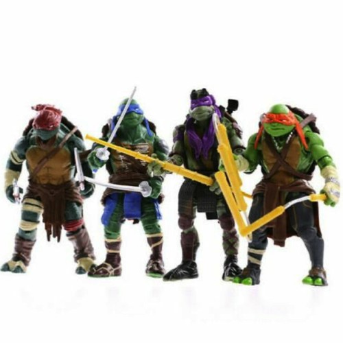 4-Piece Lot TMNT Teenage Mutant Ninja Turtles Action Figures