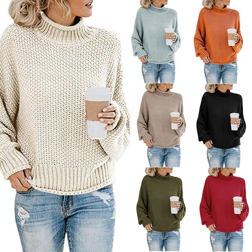 Women's Thick Thread Turtleneck Pullover