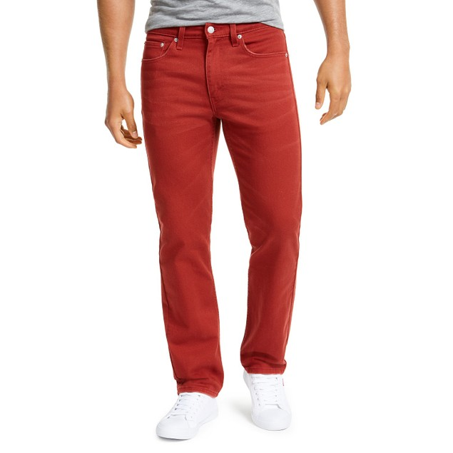 Levi's Men's 514 Straight Fit Jeans Red Size 30X32