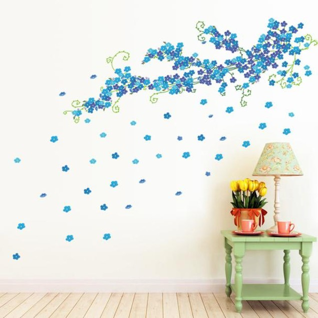 Romantic Love Something Blue Wall Decals Stickers Art