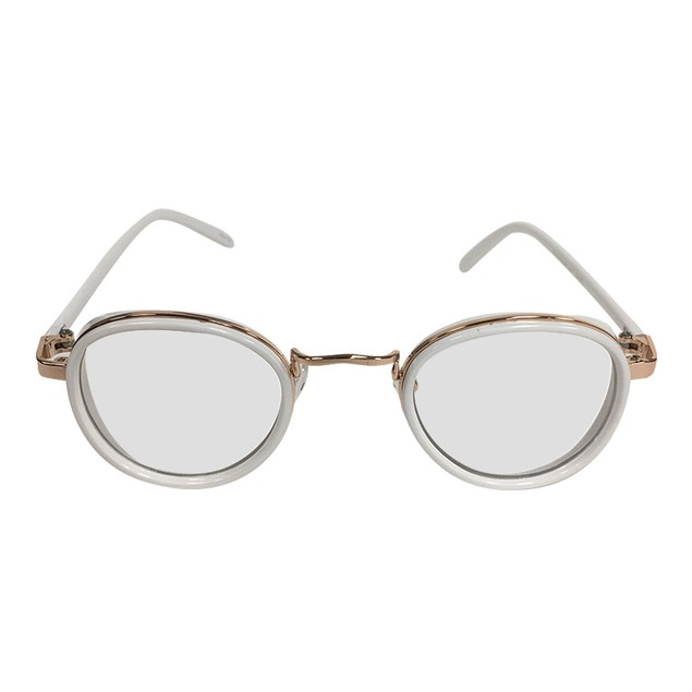 White on Gold Clear Lens With Side Shield Sunglasses