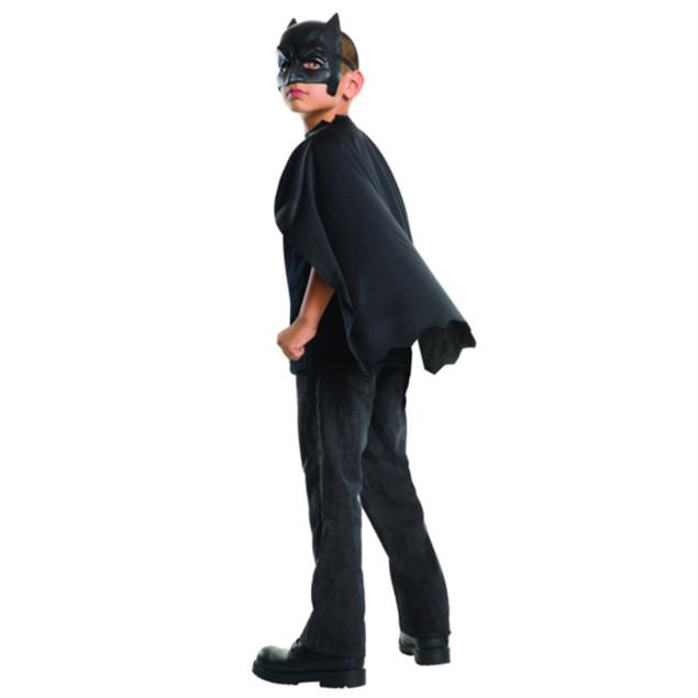 Child Batman Cape with Mask Superman Dawn of Justice DC Black Costume