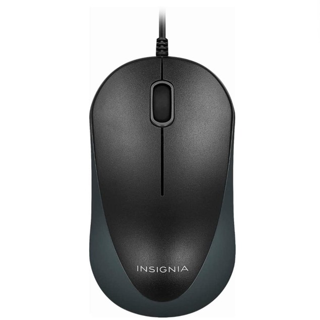 Insignia USB Keyboard and Ergonomic Mouse Combo (NS-PNC5001) - Black