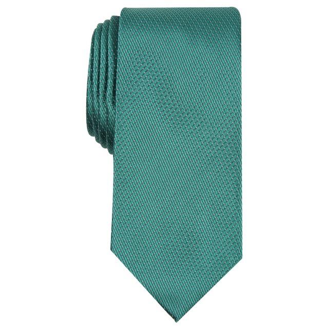 Perry Ellis Men's Glenwilton Classic Mini-Dot Check Tie Green Size Regular