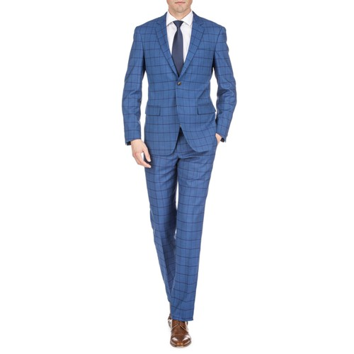 Gino Vitale Men's Window Pane Slim Fit Suits